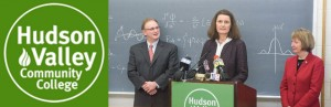 Mosaic Partner Hana Panek, AIA, LEED AP, speakes at HVCC Science Center press conference