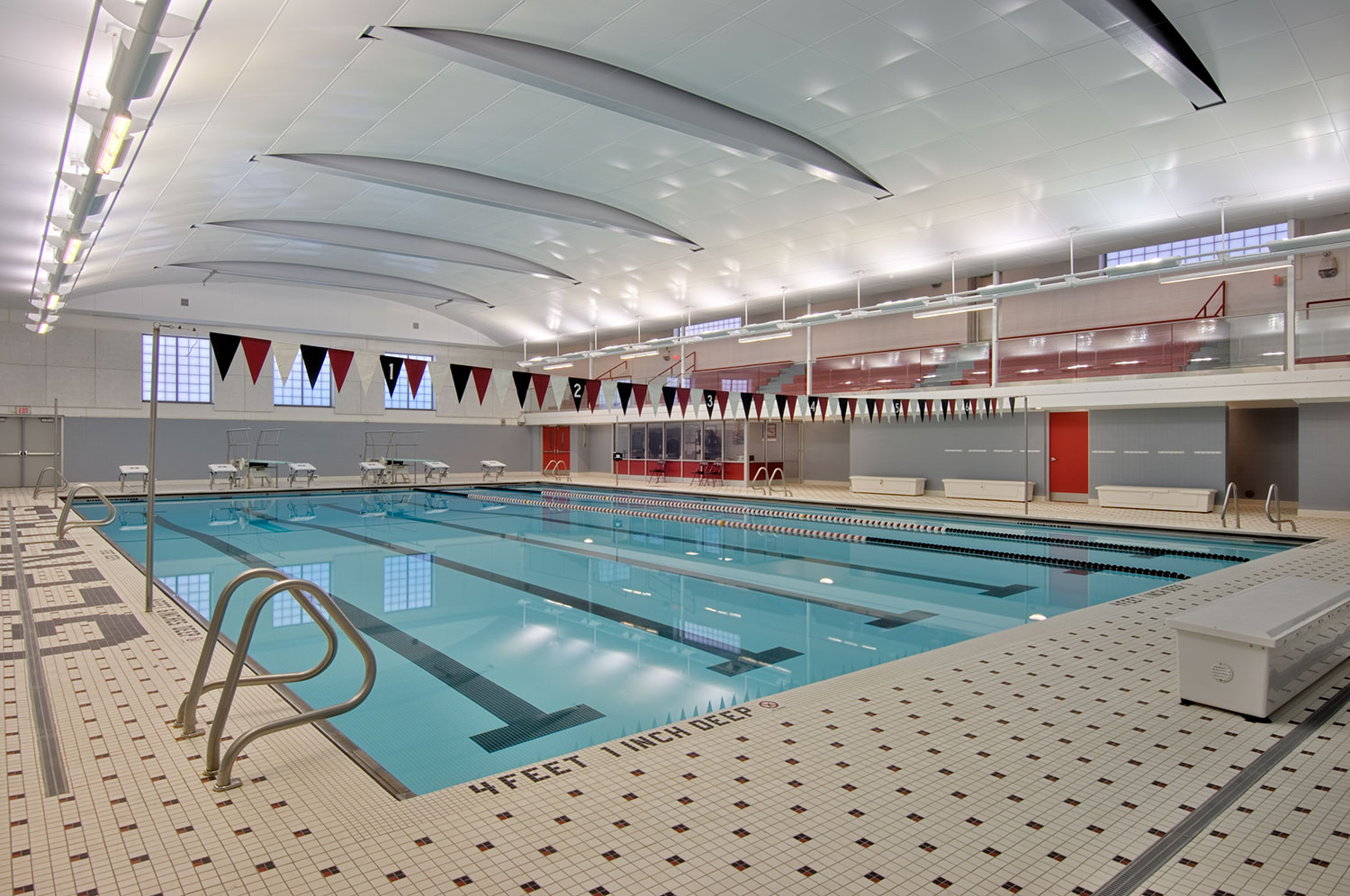 Mosaic's design for Glens Falls' new swimming pool includes mechanical and timing systems, an acoustic ceiling system and wall panels to diminish sound levels during practices and competitions.