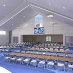 Third view interior rendering as part of Mosaic Associates' Feasibility Study and Master Plan for Bethlehem Lutheran Church.