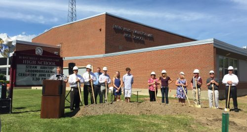Groundbreaking ceremony for Mosaic Associates' school design for BH-BL CSD