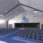 Second view interior rendering as part of Mosaic Associates' Feasibility Study and Master Plan for Bethlehem Lutheran Church.