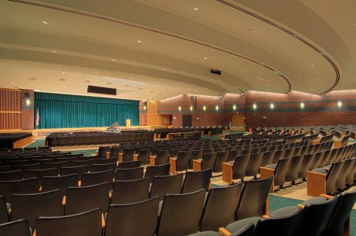 Shenendehowa Central School District Auditorium in Clifton Park, New York, designed by Mosaic Associates Architects