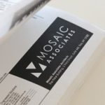 Mosaic Associates logo. School architects and designers for preK-12, college and university and community projects.